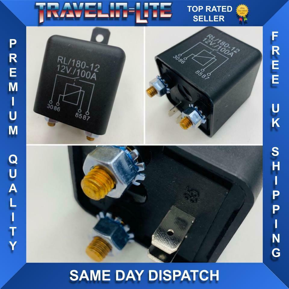 12v heavy duty split charge relay van caravan 100 amp on