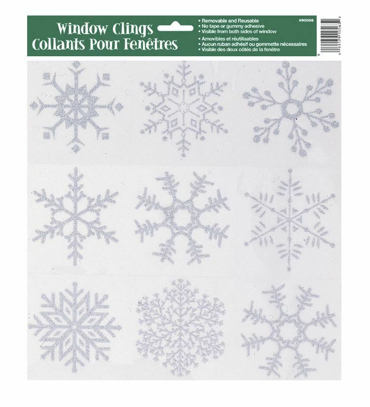 Reuseable Snowflake Glitter Window Stickers Cling Frozen