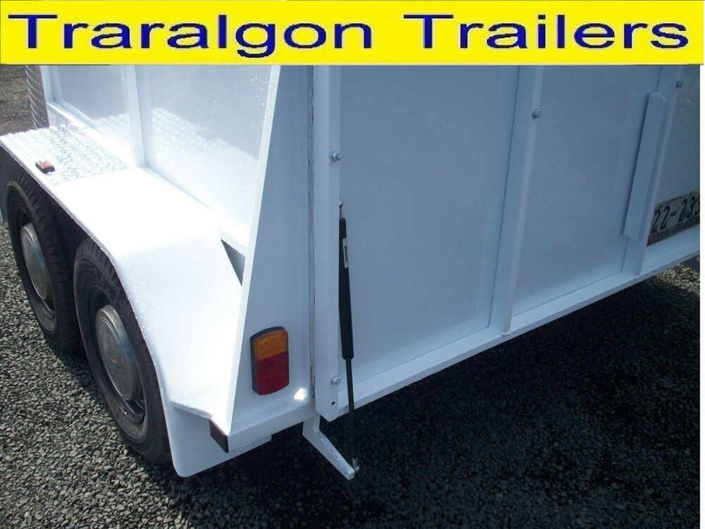 Horse Float Tail Gate Tailgate Ramp Door Assist Gas Strut Pivot Trailer Sp90 Kit Ebay