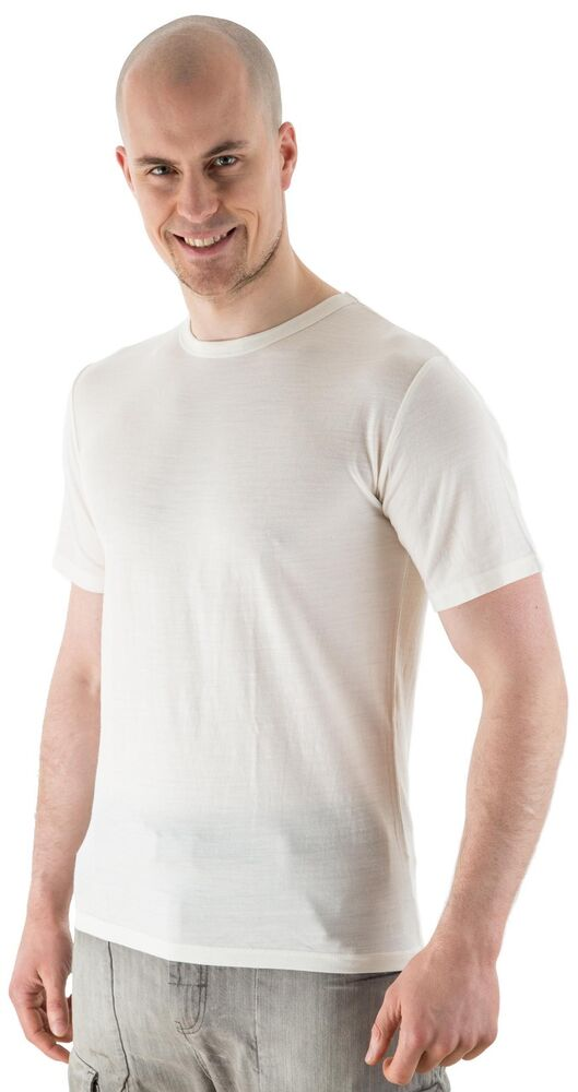 Edz merino wool thermal base layer t shirt men 39 s natural for White thermal t shirt