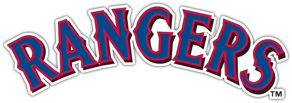Texas Rangers Mlb Baseball Vinyl Car Bumper Window Sticker