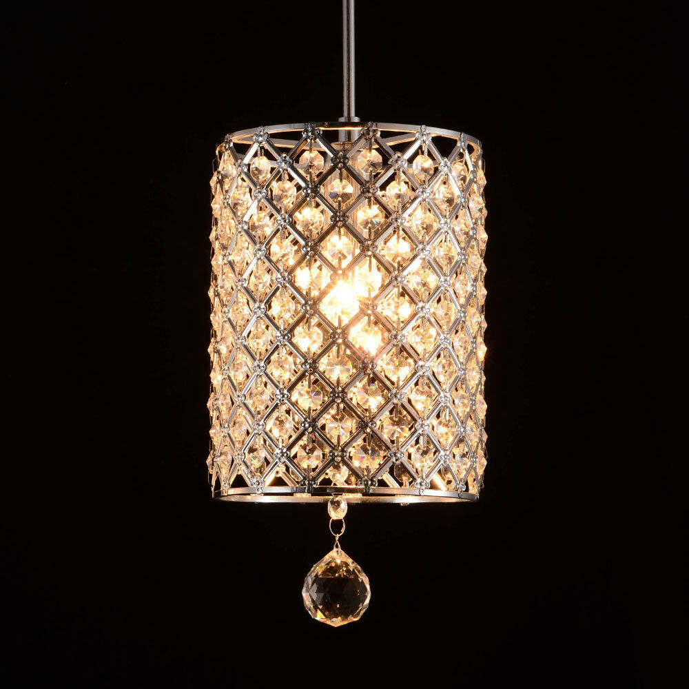 Modern crystal light hallway pendant ceiling lamp fixture chandelier lighting ebay - Light fixtures chandeliers ...