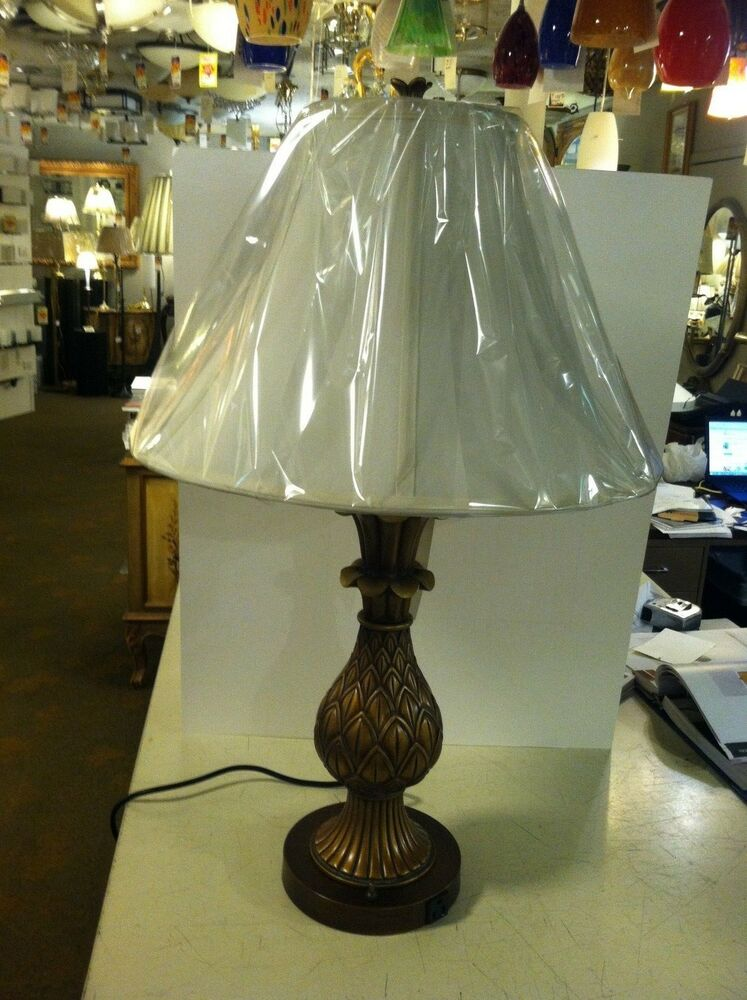 """30.5""""Antique Color Pineapple Table Lamp Bed Side Light ..."""
