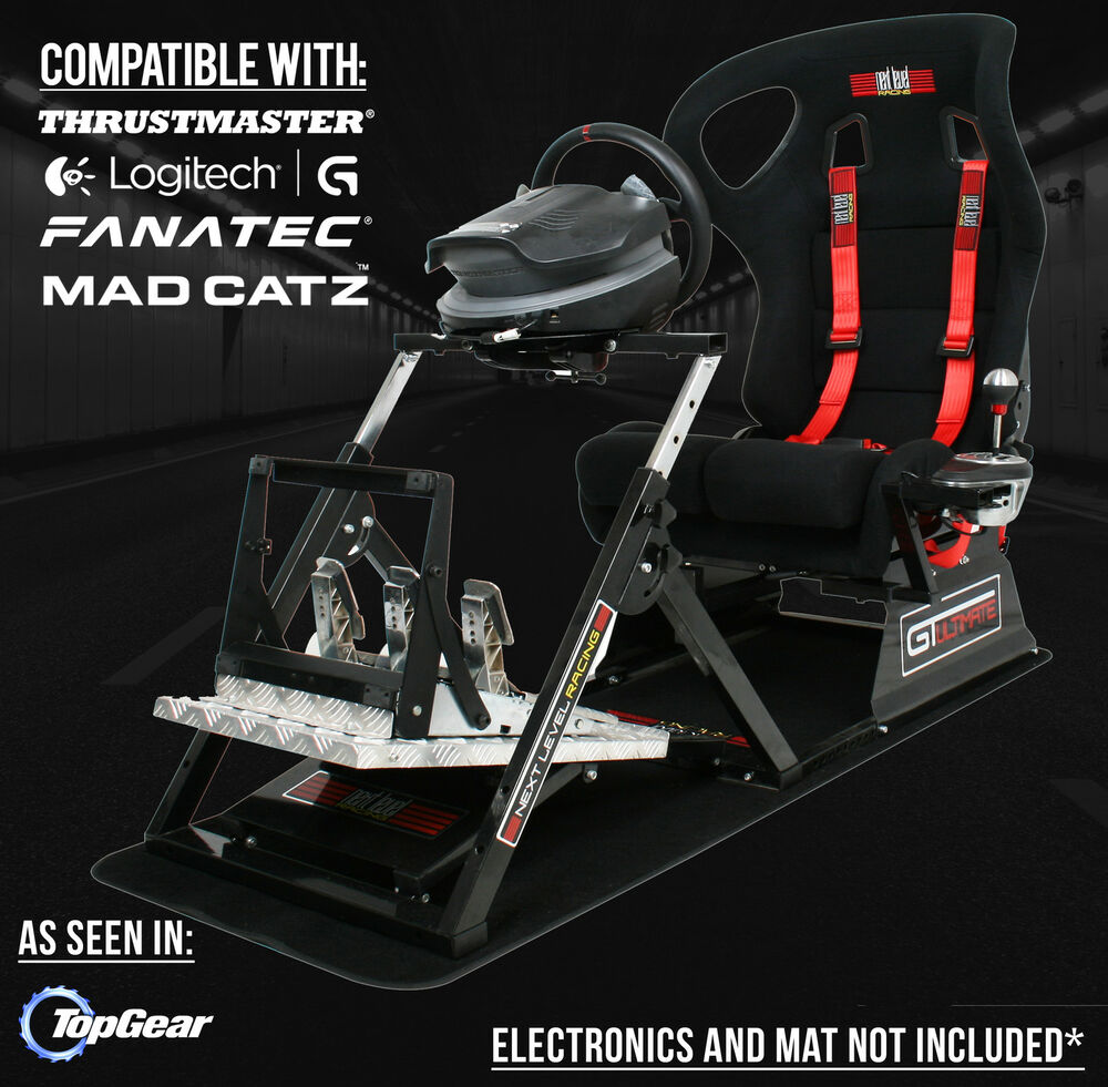 next level gtultimate racing simulator cockpit gaming chair for ps3 ps4 xbox ebay. Black Bedroom Furniture Sets. Home Design Ideas