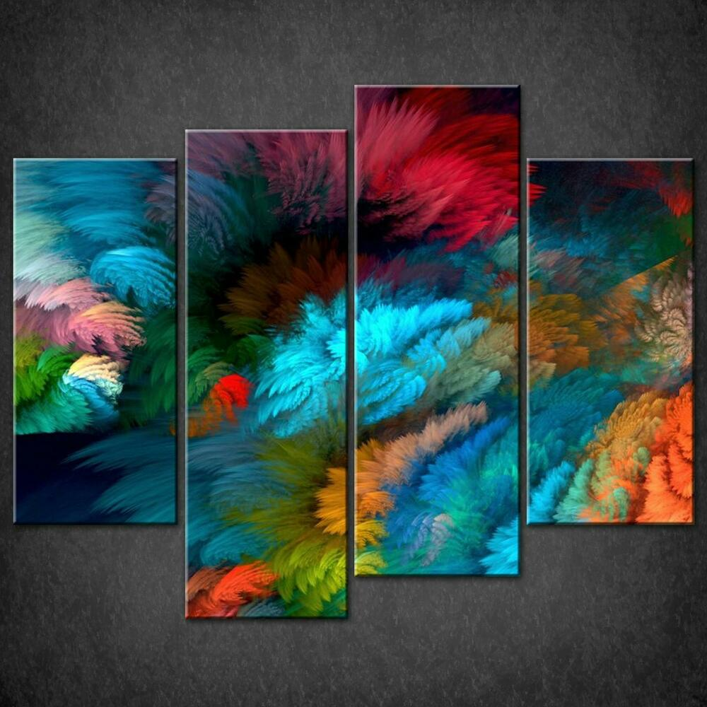 Wall Art Split Canvas : Abstract colourful split canvas wall art pictures prints