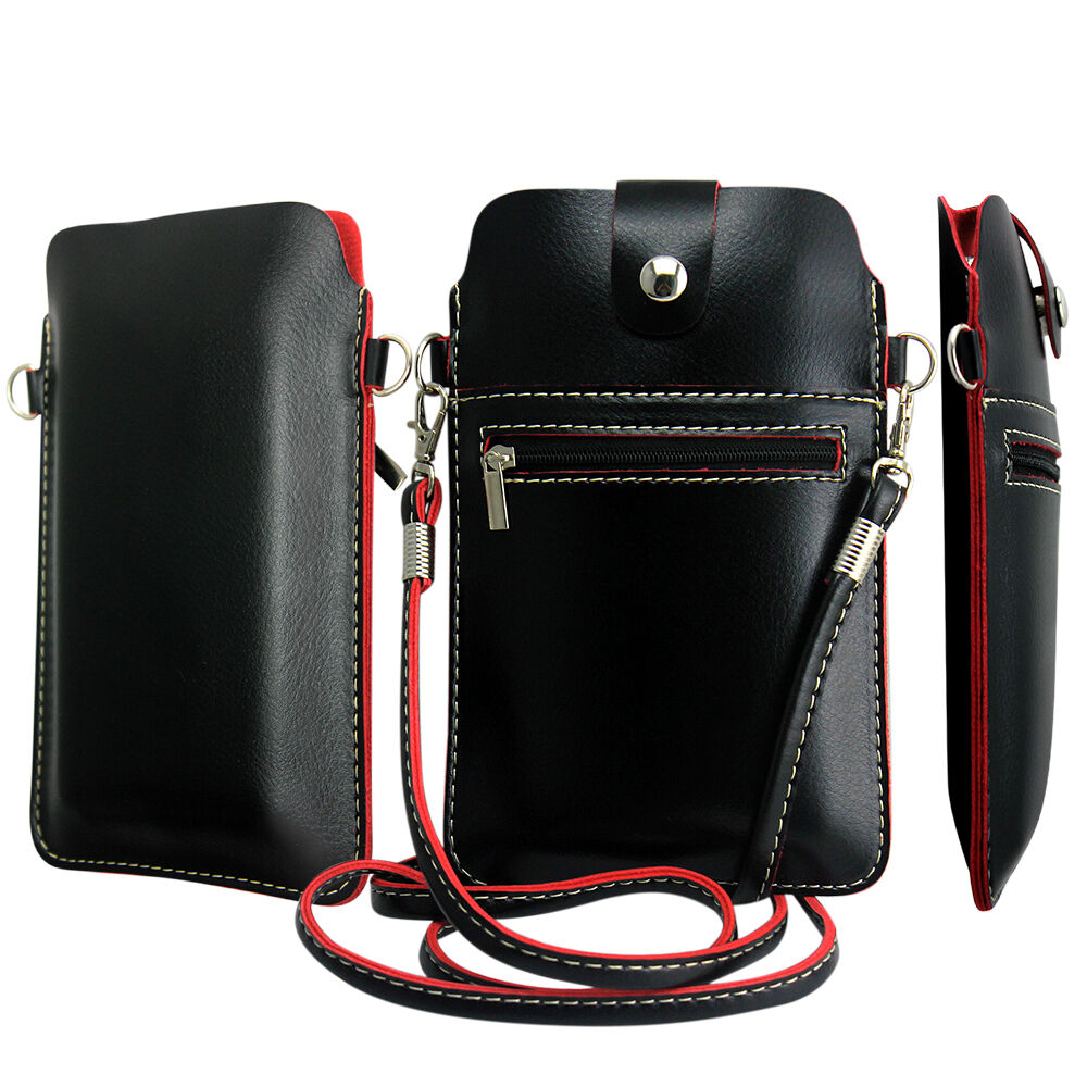 ... Bag Case Cover Pouch With Shoulder Strap For Mobile Phone : eBay