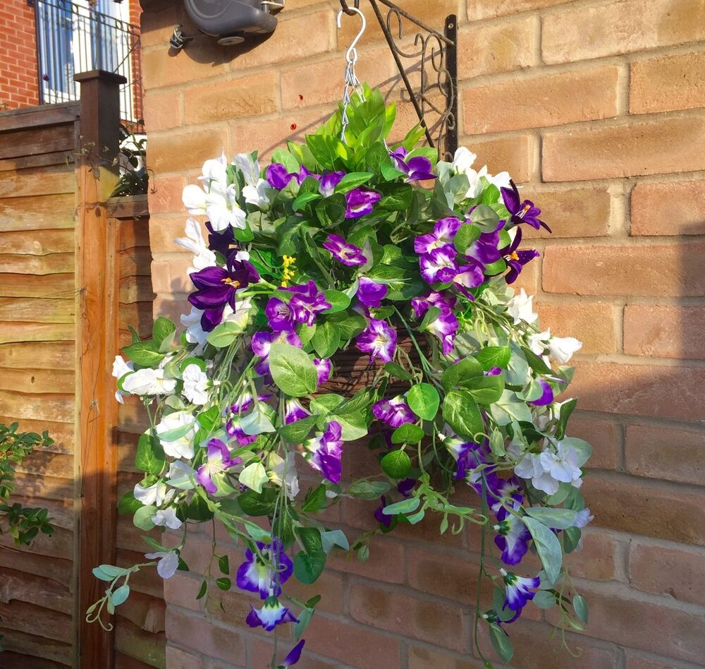 purple new trailing ready to hang artificial flower. Black Bedroom Furniture Sets. Home Design Ideas