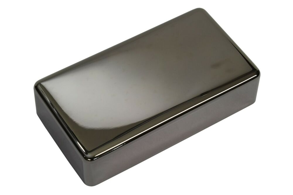 humbucker pickup cover smoked black nickel nickel silver with no holes ebay. Black Bedroom Furniture Sets. Home Design Ideas