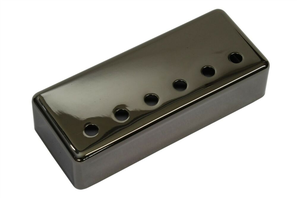 mini humbucker pickup cover smoked black nickel plated nickel silver 50mm ebay. Black Bedroom Furniture Sets. Home Design Ideas