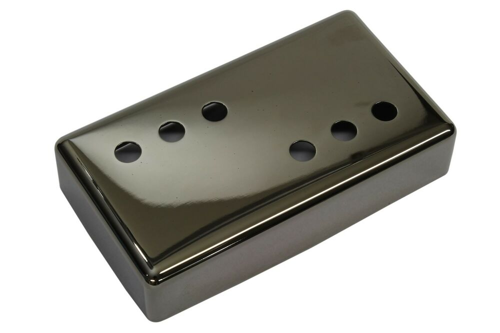 wide range humbucker pickup cover 3x3 smoked black nickel nickel silver 54mm ebay. Black Bedroom Furniture Sets. Home Design Ideas