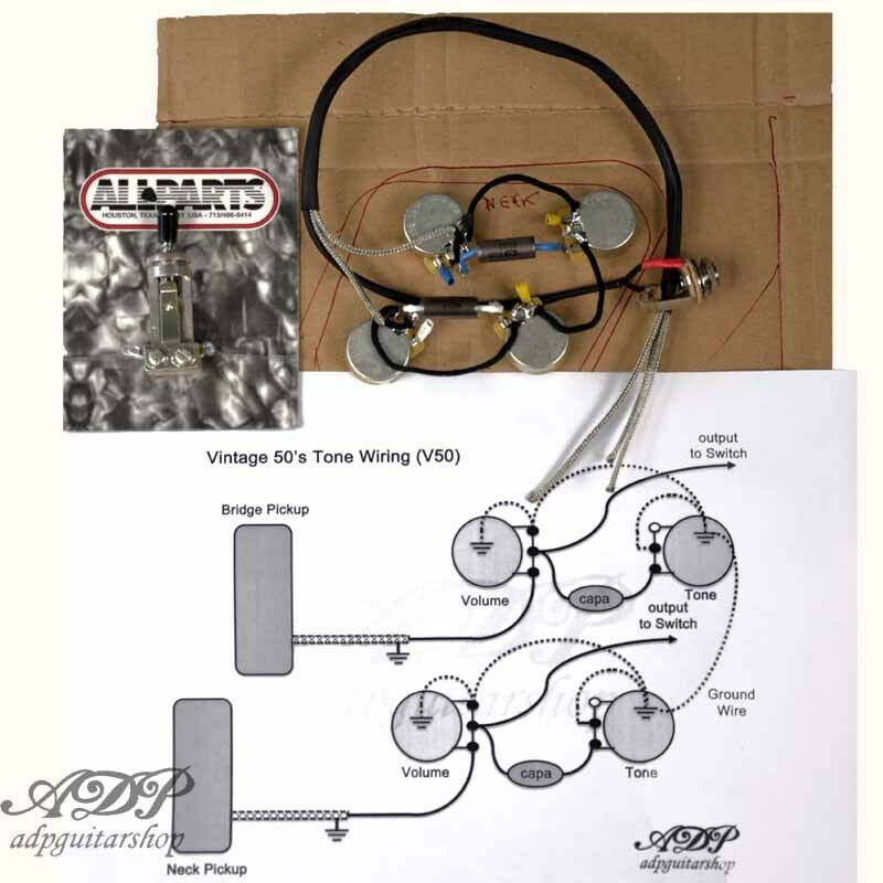 kit control electronique cable p90 33nf lespaul gibson ... epiphone lp wiring diagram