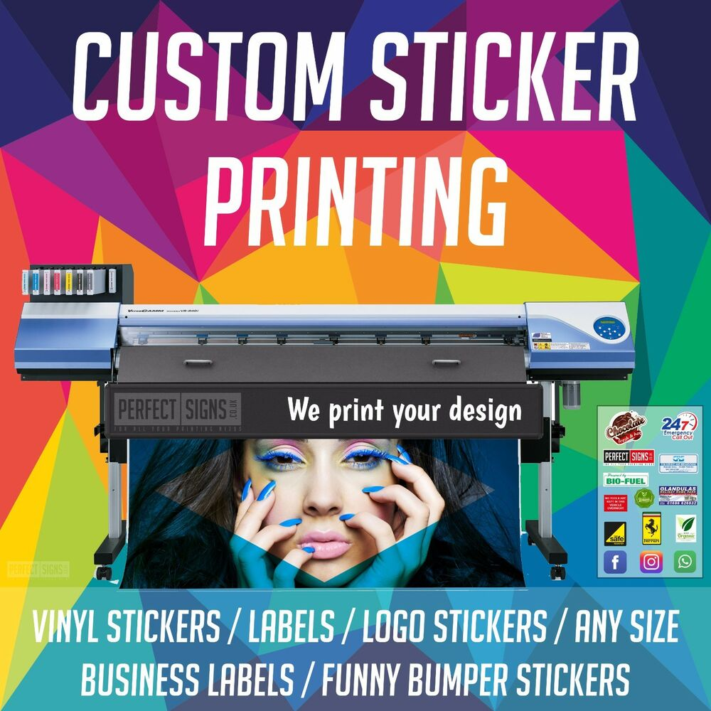 Printing Service A4 Custom Personalised Vinyl Sticker