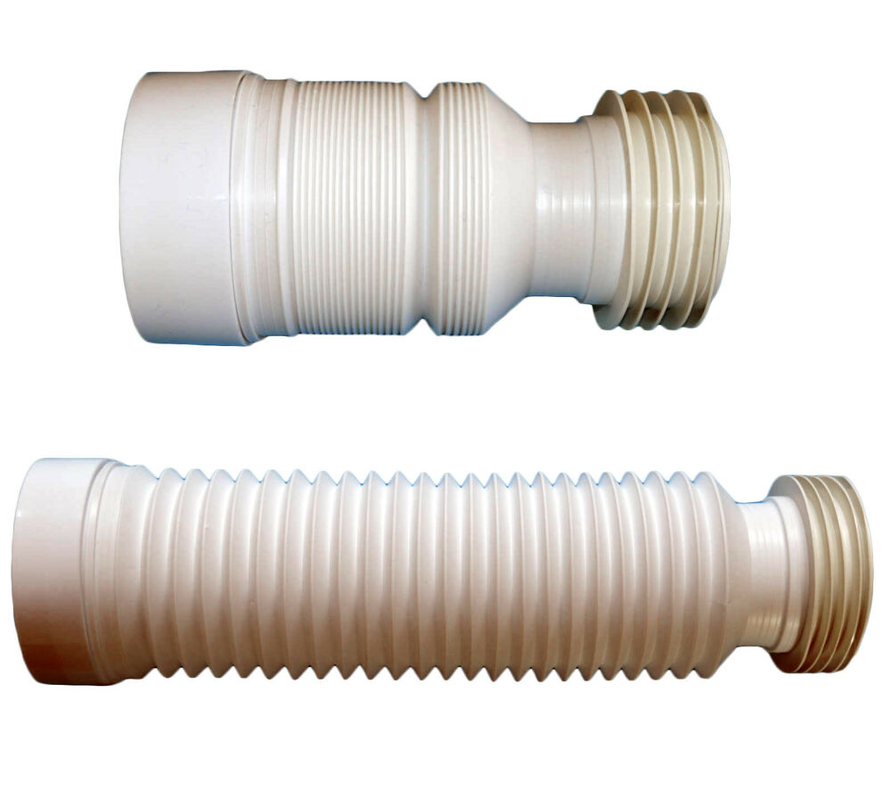 Toilet waste soil pipe 220 540 mm flexible pan connector for Bath waste pipe