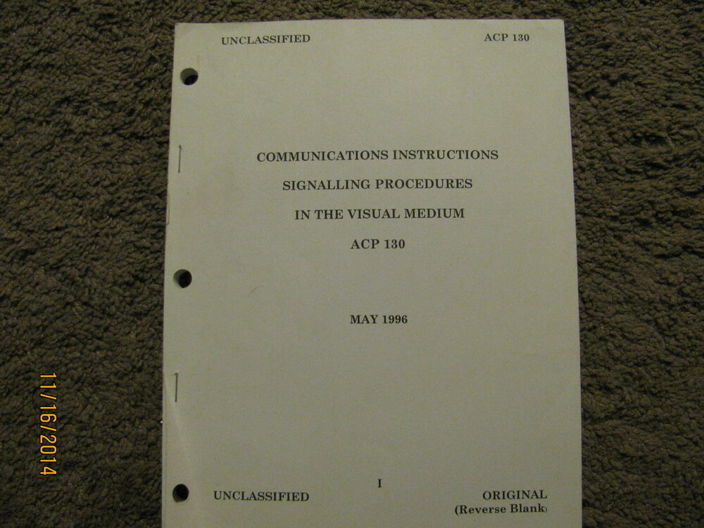 Military Book Acp 130 Communications Instructions Signalling