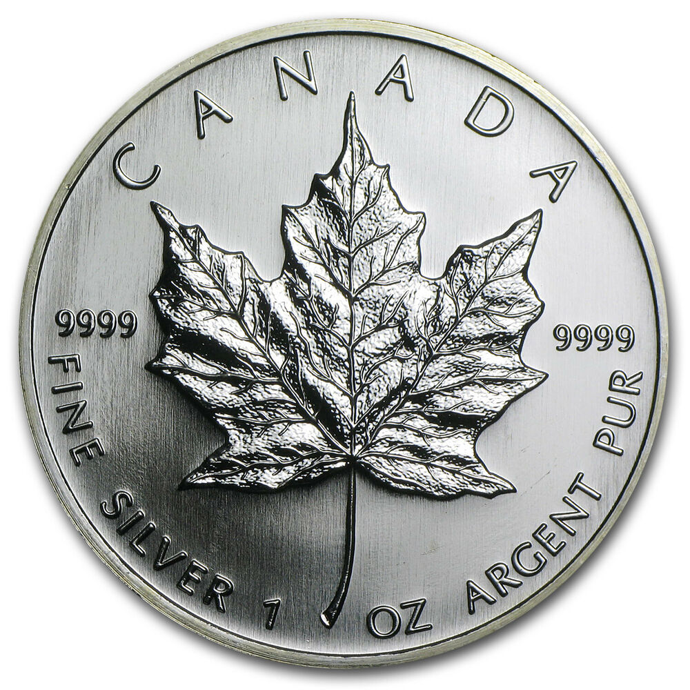 2006 1 Oz Silver Canadian Maple Leaf Coin Brilliant