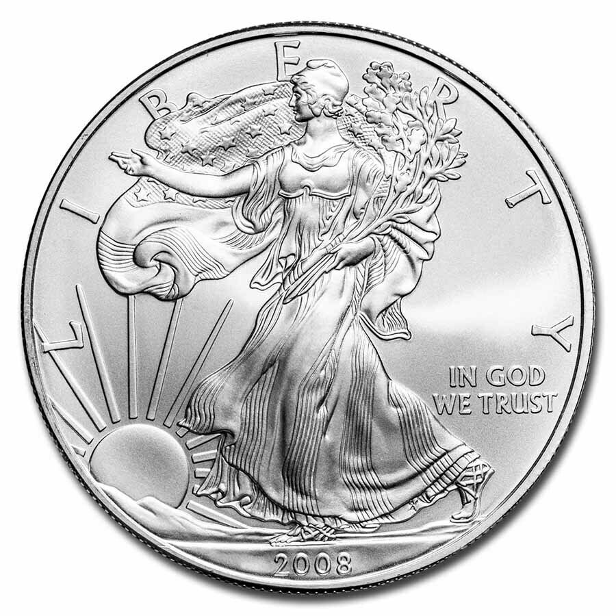 2008 1 Oz Silver American Eagle Coin Brilliant