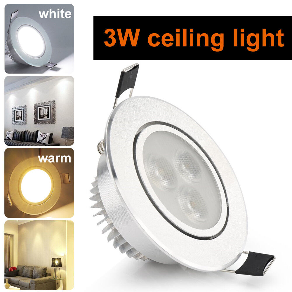3 Bulb Ceiling Light: 3X1W CREE Dimmable LED Ceiling Light Cabinet Recessed Down