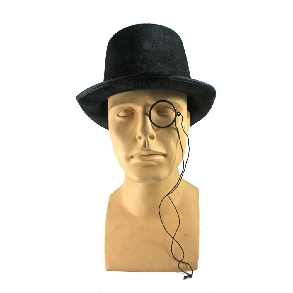 Peanut Gentleman Costume Kit Top Hat Monocle | eBay