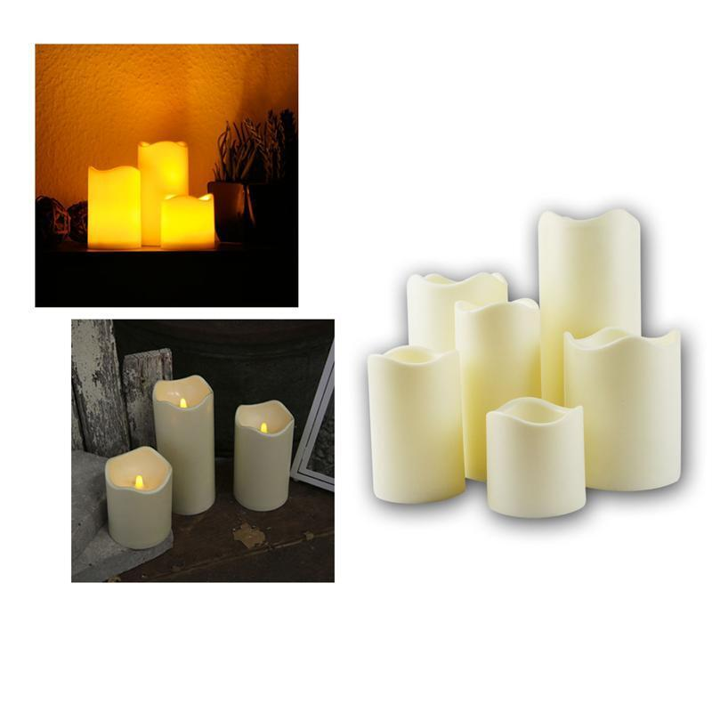 led candle for outdoors with timer flickering leds flameless outdoor candles ebay. Black Bedroom Furniture Sets. Home Design Ideas
