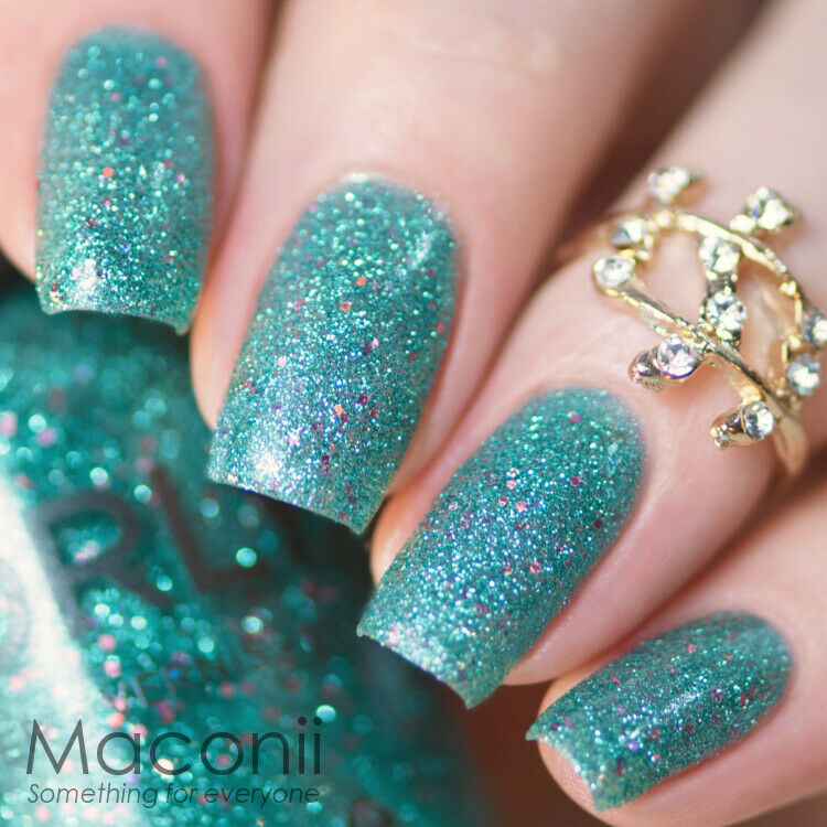 Pink And Blue Glitter Nail Polish: Green With Pink Holographic