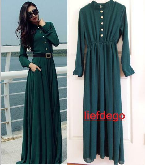kaftan abaya jilbab islamic muslim cocktail women long sleeve vintage maxi dress ebay. Black Bedroom Furniture Sets. Home Design Ideas