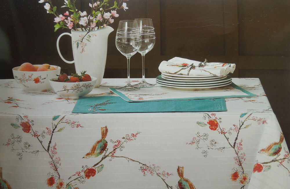 Lenox Home Chirp Simply Fine Spill Proof Tablecloth 60 Quot X