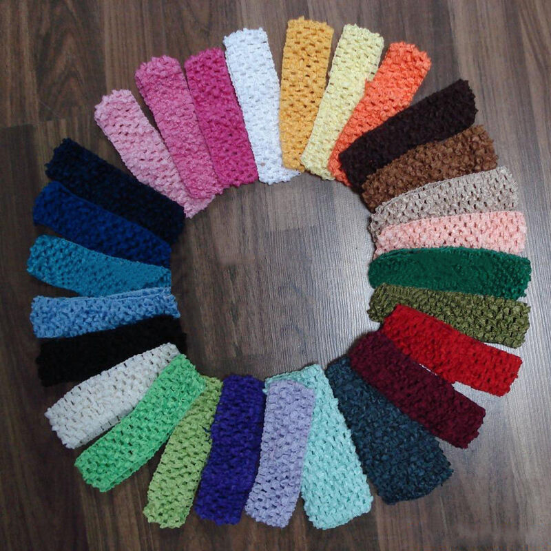 Crochet Hair Ebay : ... Baby Girls Yoga Toddler Crochet Hair band Headband Hairband eBay