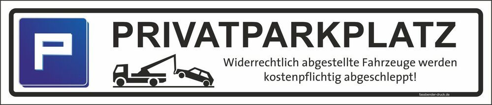 kfz schild nummernschild kennzeichen parkschild privatparkplatz schild ebay. Black Bedroom Furniture Sets. Home Design Ideas