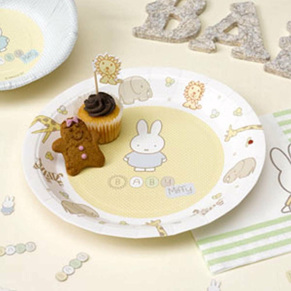 baby shower christening first 1st birthday party tableware plates