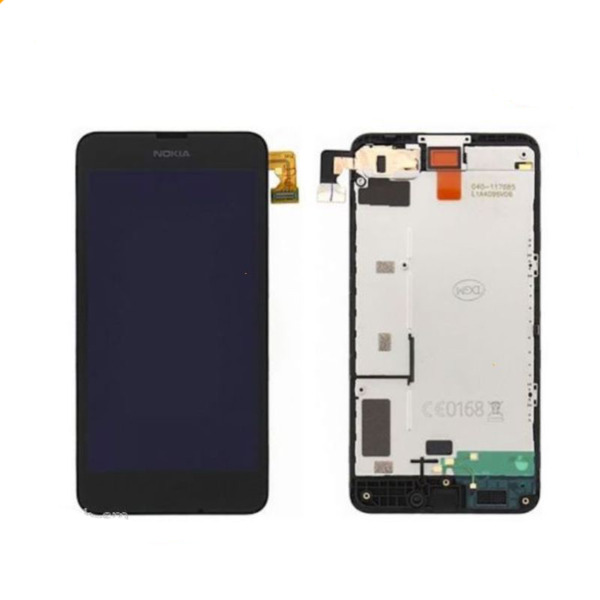 TOUCH SCREEN DIGITIZER VETRO + DISPLAY LCD NOKIA LUMIA 630 635 COMPLETO FRAME