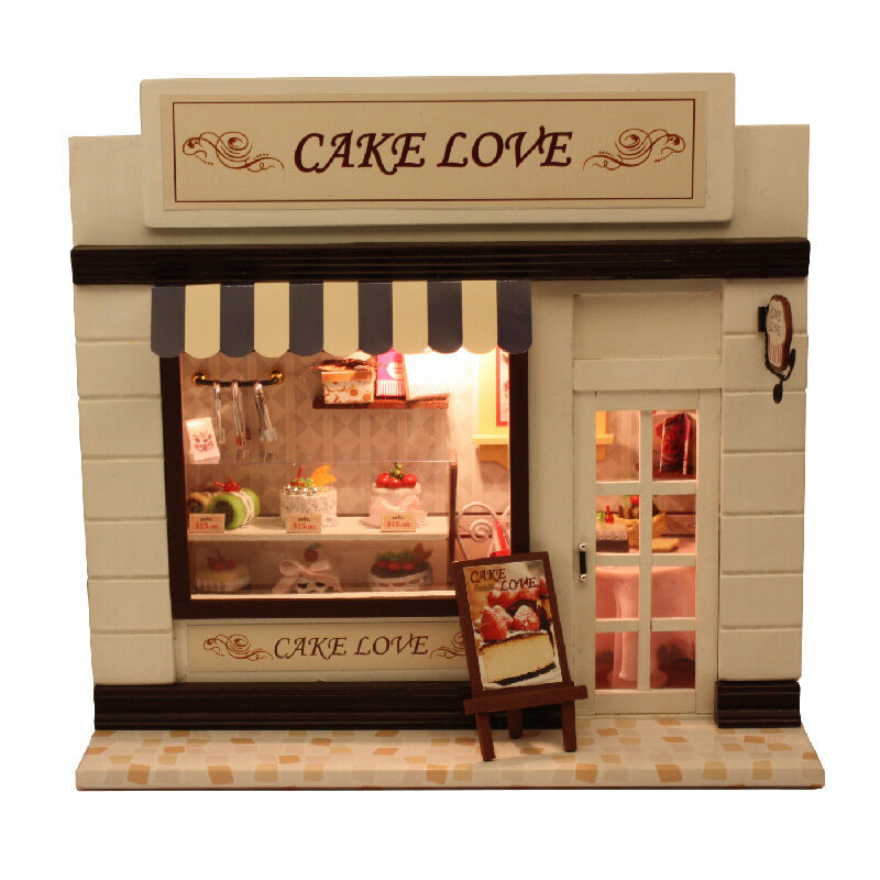 Doll House Cake Images : DIY Wood Dollhouse Miniature Cake Love Bakery Bread Store ...