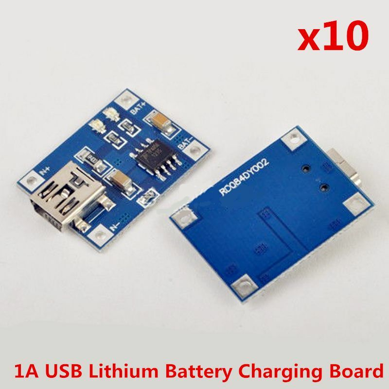 10stk mini usb 5v 1a lithium akku ladeger t battery charger modul 4 5v 5 5v ebay. Black Bedroom Furniture Sets. Home Design Ideas