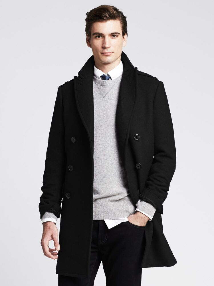 Black overcoat Men's Overcoat Wool overcoat Topcoat Down coat Warm coat Love & Life Black wool Cashmere Forward Classic and sophisticated men's overcoat are a welcome addition to any business wardrobe Men's apparel boasts luxurious wool/cashmere blend, providing the ultimate source of comfort Men's top-coat fea.