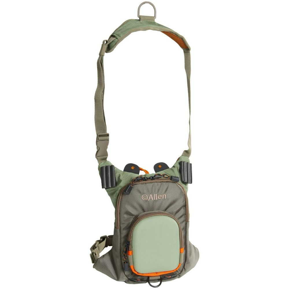Allen ultralight fly fishing wading chest pack vest for Fishing chest pack