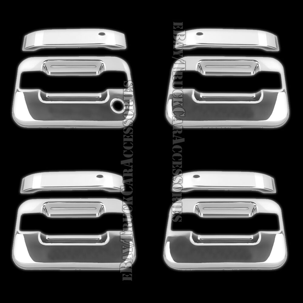 for ford f 150 f150 2004 2010 2011 2012 2013 2014 chrome 4 door handle covers ebay. Black Bedroom Furniture Sets. Home Design Ideas
