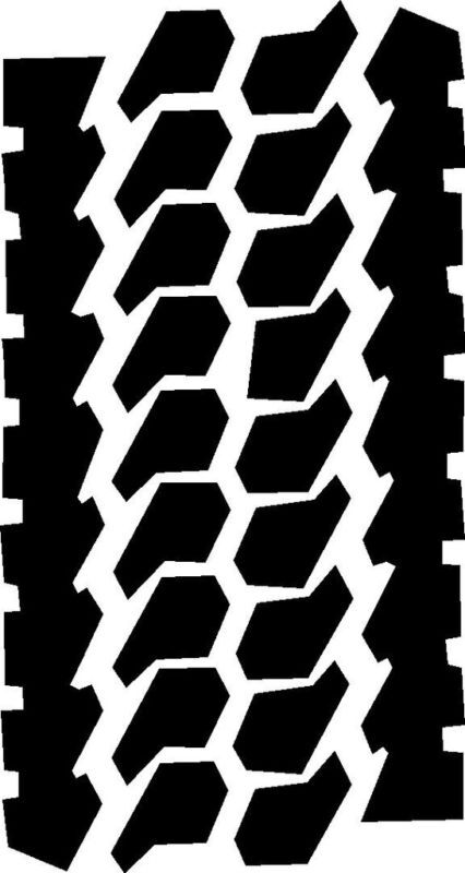 Mud Tire Tracks Tire Tread decal for j...