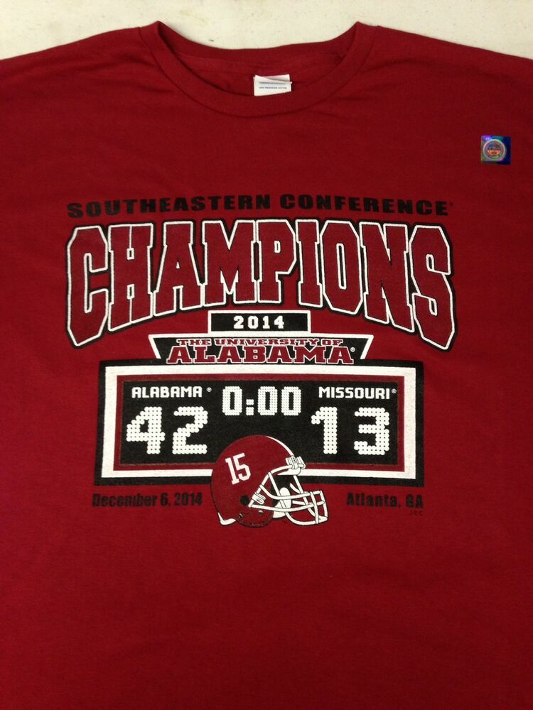 Sec championship alabama vs missouri crimson 42 13 t shirt Alabama sec championship shirt