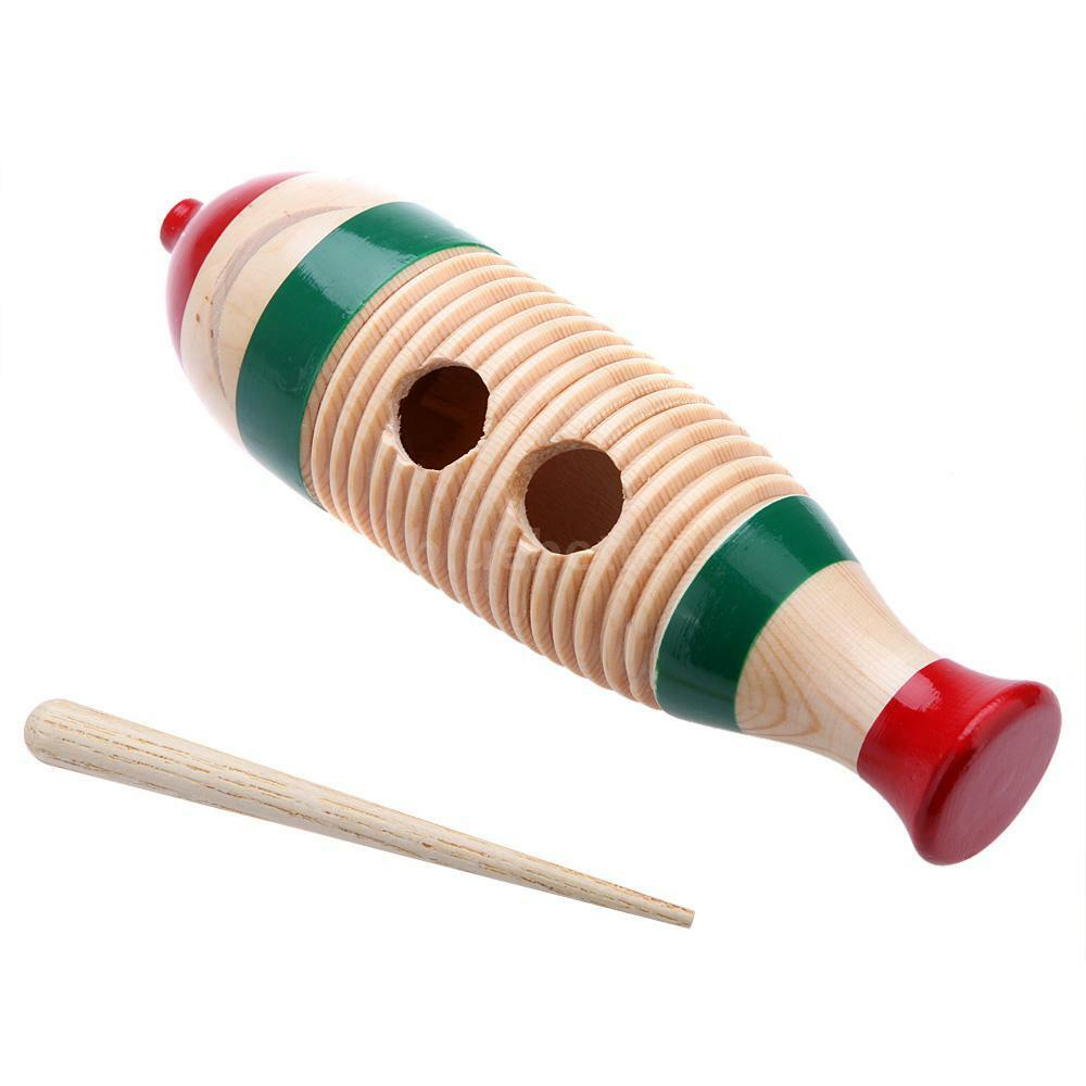 wooden guiro fish shaped style colorful percussion
