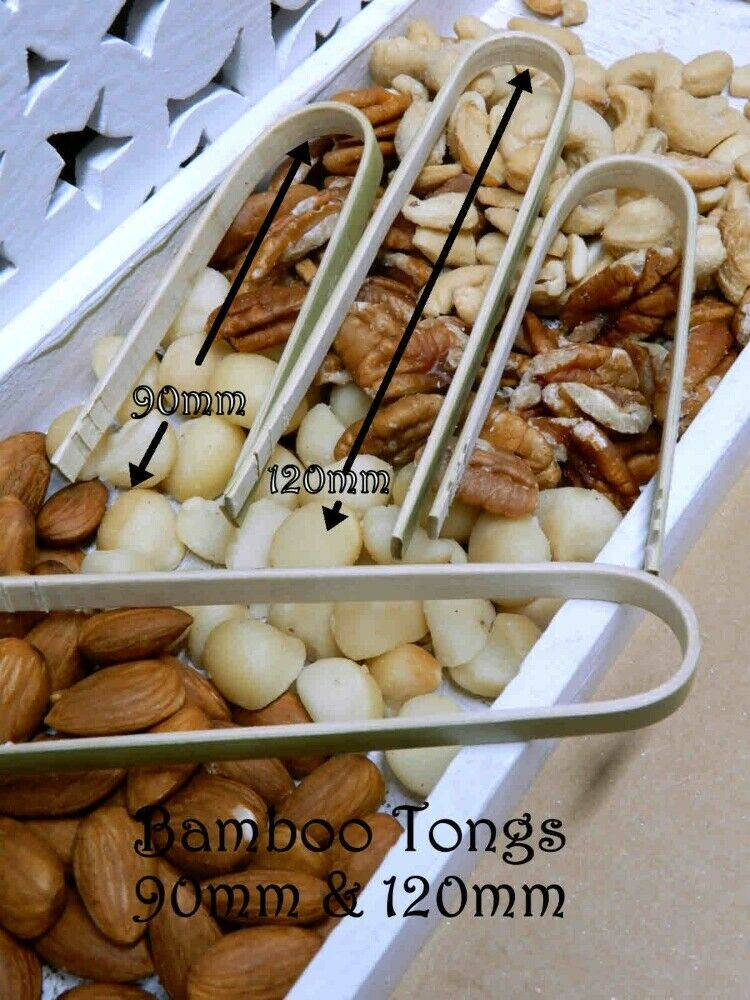 50 Food Cones 3 Sizes Pinecone Stand Finger Food Bamboo