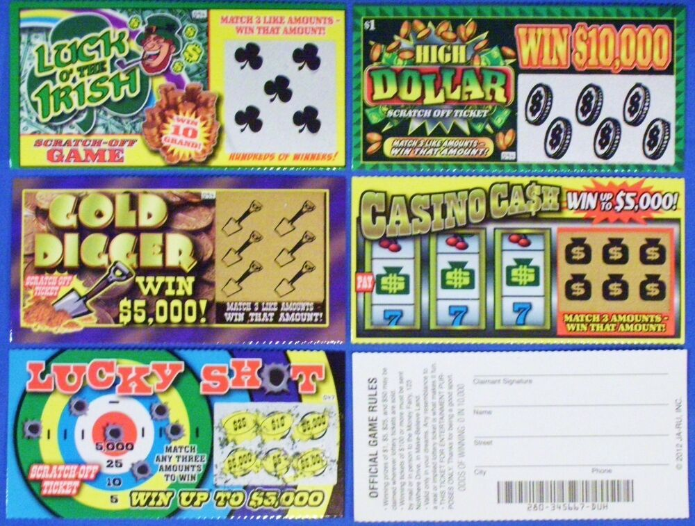 fake sweepstakes 3 assorted fake all winning winners scratch off lottery 4428