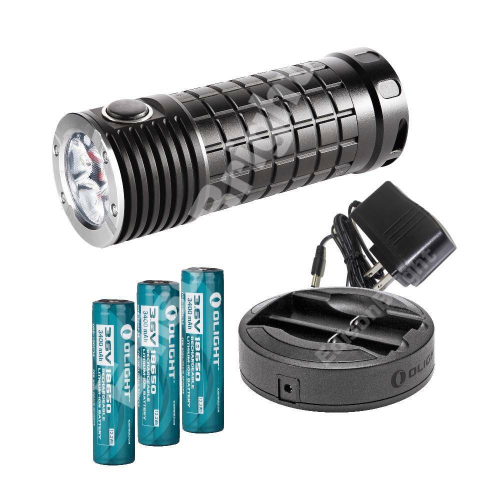 NEW Olight SRmini INTIMIDITOR 2800 lumen 3XCree XM-L2 CW ...