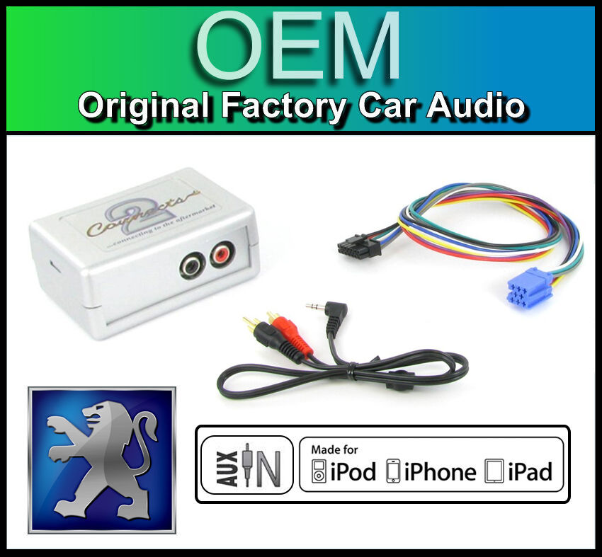 Peugeot 206 AUX In Lead Car Stereo IPod IPhone Player