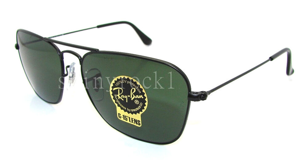 ray ban 3136  authentic ray ban caravan black sunglass rb 3136 w3338 *new* 55mm