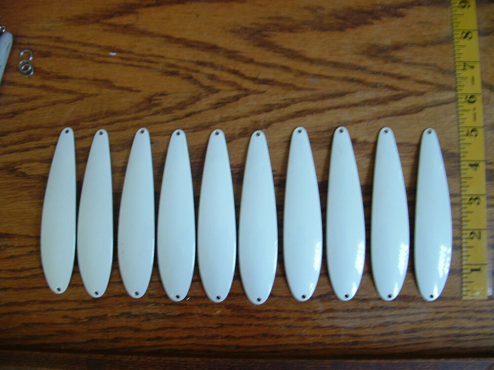10 lures salmon spoons 5 long blanks ebay