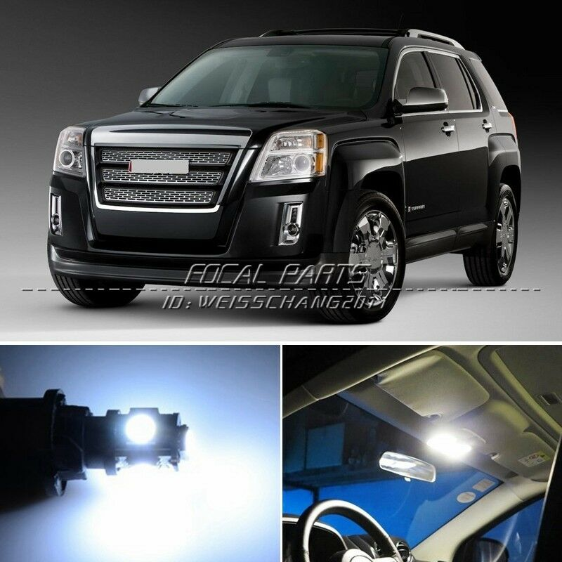 12 X Xenon White LED Lights Interior Package Kit For GMC
