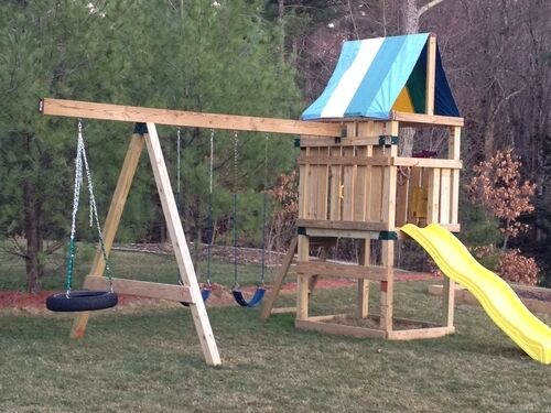 new do it yourself swing set play ground parts kit for