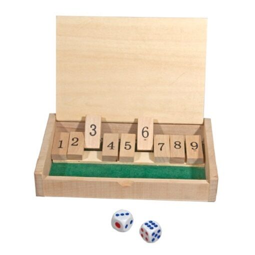 New Box Games : New mini wooden shut the box game quot