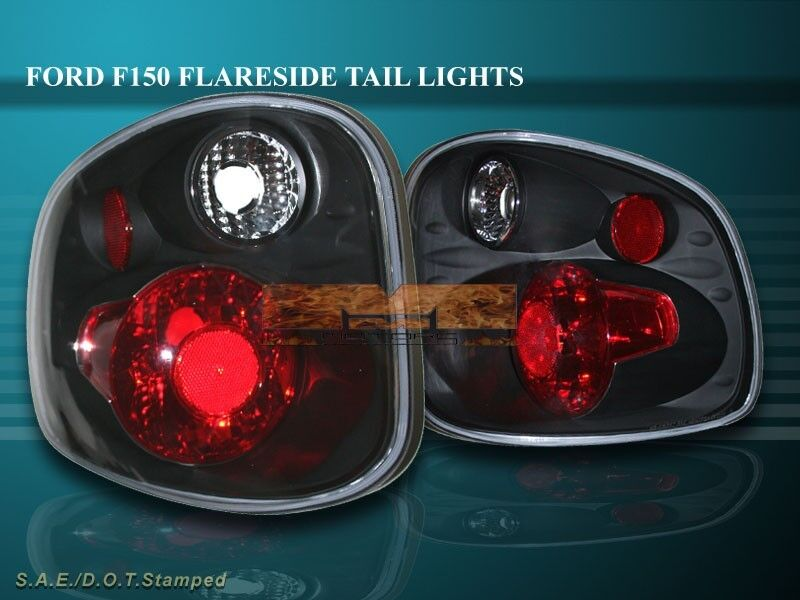 2001 2003 ford f150 f 150 tail lights jdm black ebay. Black Bedroom Furniture Sets. Home Design Ideas