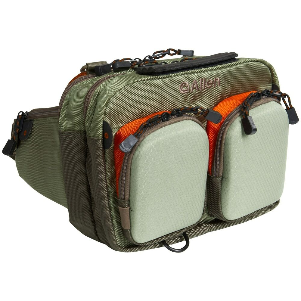 Allen fox river fly fishing wading chest fanny waist pack for Fishing waist pack