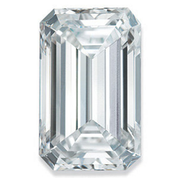 Loose Forever Brilliant Emerald Cut Moissanite With